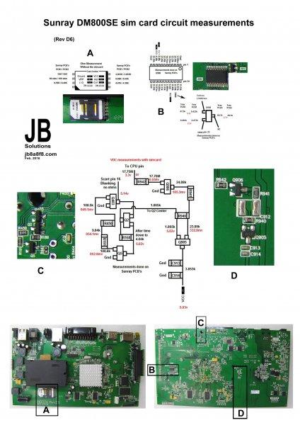 Dm800se Sunray D6 Simcard Circuit Measurements