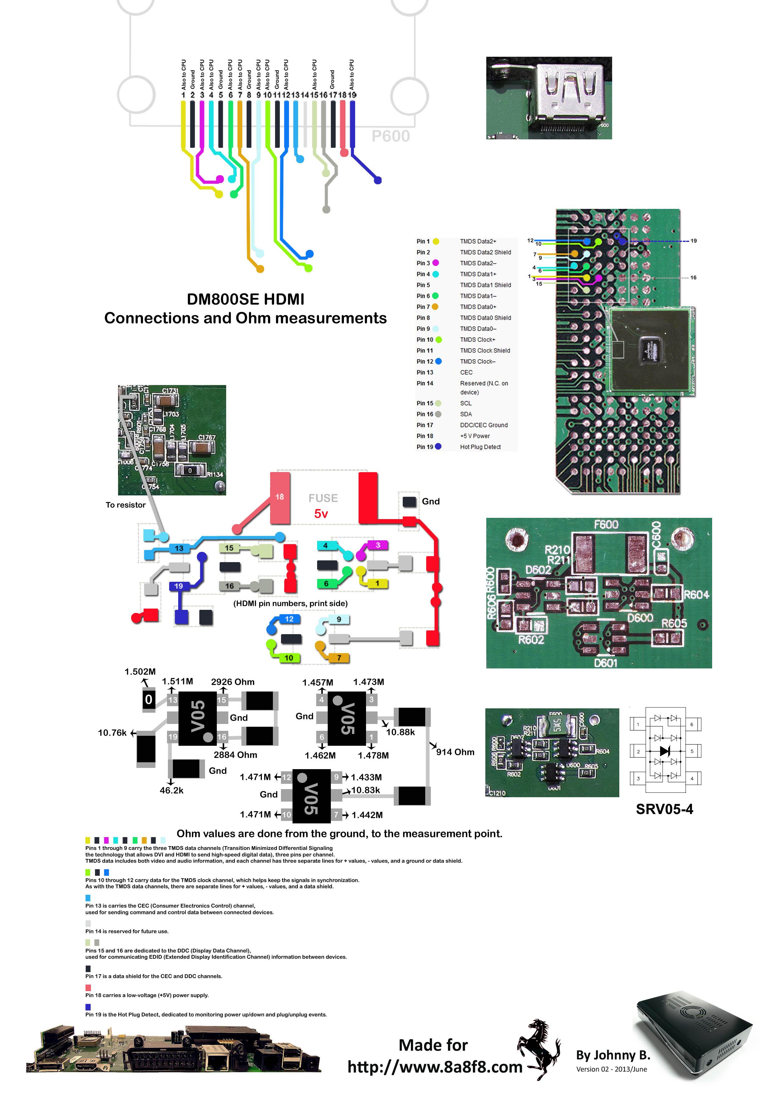 Hdmi Wiring Diagram Problems Dm800se Hd